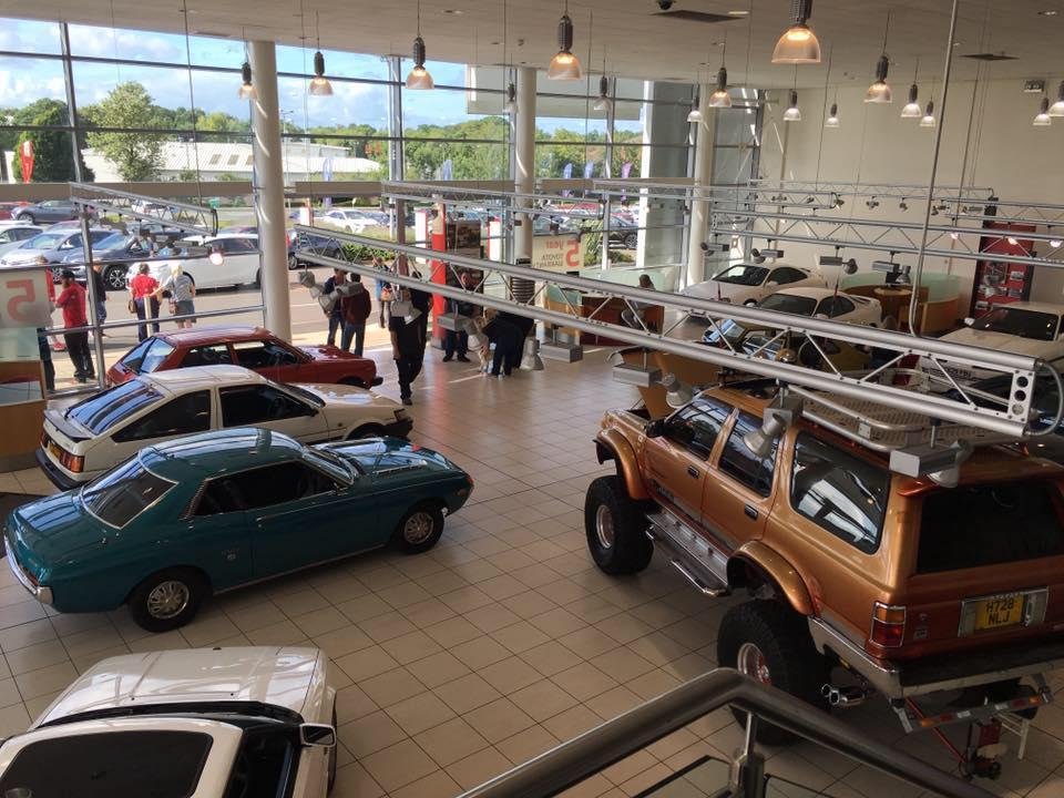 Retro Toyota Day Showroom